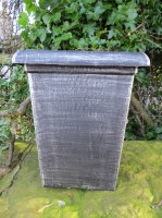 """10.5"""" Tall Square in the Antique Silver finish"""