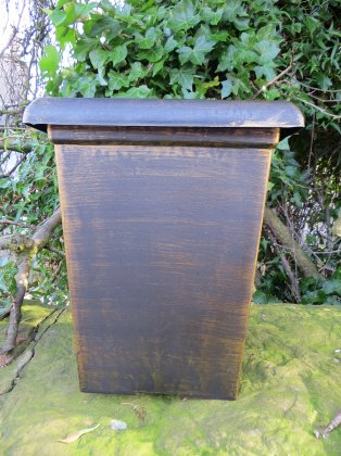 """The 10.5"""" Tall Square in the Antique Gold finish"""